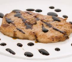 Scaloppine with balsamic condiment Elisir
